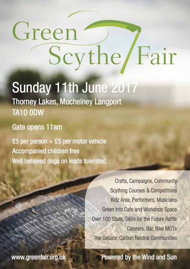 Green scythe Fair Sunday 11th June 2017