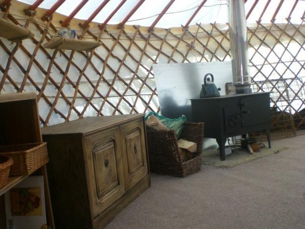 Yurt stove in North Devon